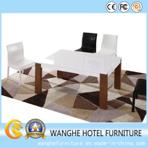 Hotel Banquet Restaurant Leather Chair and Solid Wood Table pictures & photos