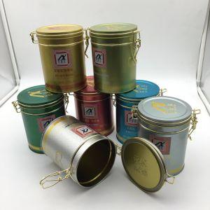Tin Lock Wholesale Round Airtight Lid Tea Tin pictures & photos
