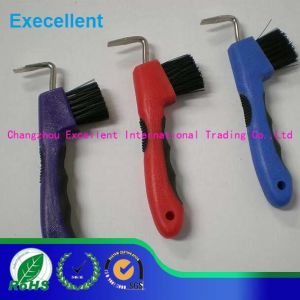 Pet Grooming Products Small Plastic Horse Brush for Foot Clean pictures & photos