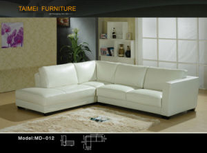 Best Selling Leather Sectional Sofa (L shape) pictures & photos
