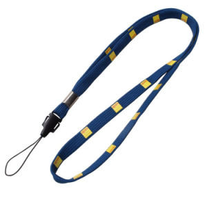 Thin Customized Logo Narrow/Tubular Lanyard with Swivel Hook pictures & photos