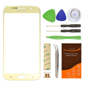 OEM ODM Avaliable Cell Phone Lens Mobile Phone Glass for Samsung S6 Gold Plating Screen Lens pictures & photos