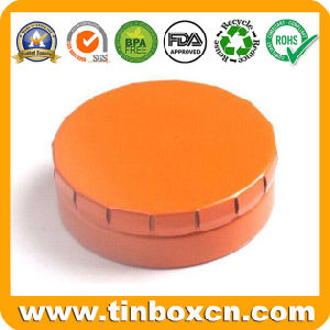 Round Metal Tin Container with Click Lid, Clac-Clic Mint Tin pictures & photos