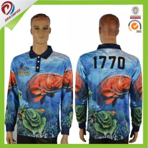 Custom Long Sleeve Breathable Polyester Fishing Polo T Shirt pictures & photos