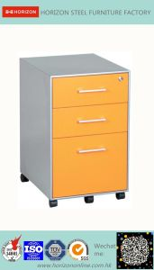 Steel Mobile Filing Cabinet Office Furniture with Replaceable Cam Lock and 5 Wheels/Mobile Pedestal pictures & photos