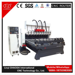 Cheap! ! 4 Axis CNC Wooden Leg Carving Machine Engraving Router pictures & photos