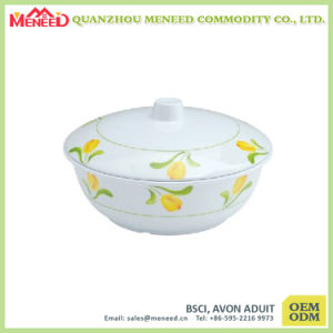 Kitchen Use Food Safety 100% Melamine Bowl with Cover pictures & photos