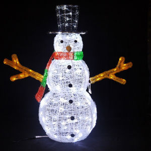 Factory Holiday Time Outdoor LED 3D Street Motif Snowman Light pictures & photos
