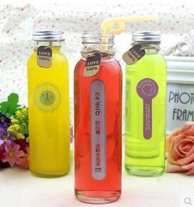 Glass Juice Bottle Glass Bottle Milk Bottle 300ml pictures & photos