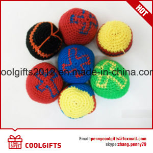 Promotional Children Custom Hand Made Knitted Woven Hacky Sack Crochet Ball pictures & photos