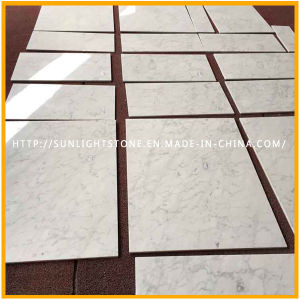 Natural Italian Polished Bianco Carrara White Marble Kitchen Floor Tiles pictures & photos