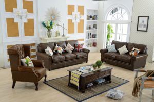American Style Leather Sofa for Living Room Furniture pictures & photos