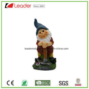 Polyresin Yellow Color Gnome Figurine with Watering Can for Garden Ornaments pictures & photos