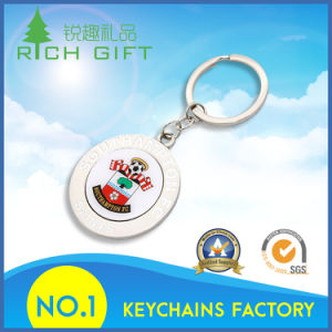 Fashion Cheap Custom Cut out Round Fine Metal Keychain pictures & photos