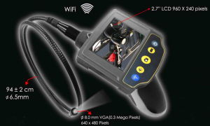 "Witson Wireless WiFi Industrial Endoscope Borescope with 2.7"" LCD Monitor pictures & photos"