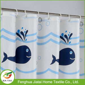Custom Waterproof Bathroom Curtain Dolphin Printed Shower Curtain pictures & photos