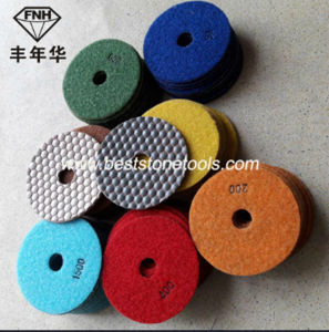 Diamond Dry Flexible Polishing Pad for Granite Marble Sandstone Concrete pictures & photos
