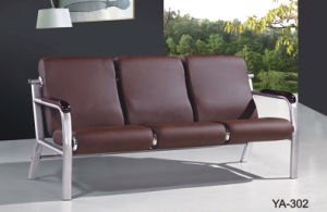 Hot Sale Blue Cheap Comfortable Modern Leather Office Sofa Reception Area Furniture pictures & photos