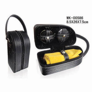 Black Weave Shoe Cleaning Set with Shoe Cream