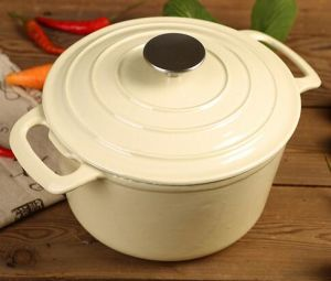 LFGB Approved Cast Iron Braising Pot Dia 22cm 3.5L pictures & photos