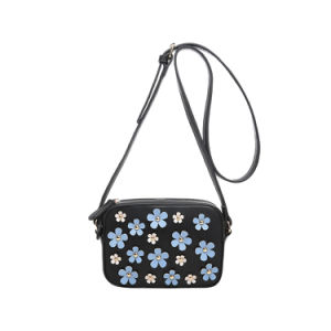 Flower Appliques Leisure Fashion Messenger Bag (MBNO042119) pictures & photos