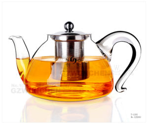 1000ml Glass Teapot Borosilicate Heat-Resistant Clear Hand Made and Mouthblown pictures & photos