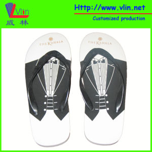 Wedding Flip Flop with Name Printed on Insole pictures & photos