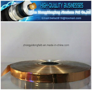 Copper Thickness 35 Microns Mylar Foil Copper Mylar Tape Cable Shield Laminate Copper Foil pictures & photos