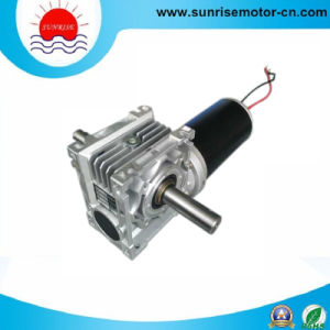 80mm High Torque Worm Gear DC Motor pictures & photos