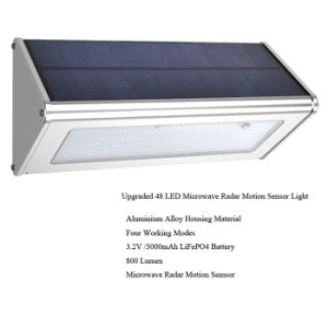 48LED Solar Microwave Radar Motion Sensor Light Outdoor Wall Mounted High Brightness Solar Light pictures & photos