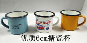Carbon Steel Rolling Rim Enamel Mug pictures & photos
