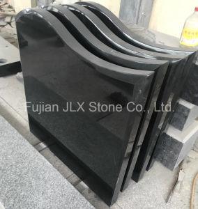 Jet Black Granite Gravestone/Tombstone/Headstone pictures & photos