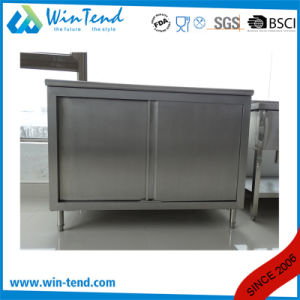 Customized Stainless Steel Robust Construction Enclosed Base Commercial Kitchen Cabinet with Drawer and Height Adjustable Leg pictures & photos
