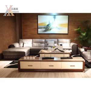 Grey Modern Fashion Leather Sofa (1681A+JM81)