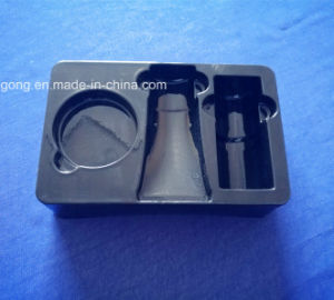 Black PVC Tray for Cosmetic Set Plastic Blister Tray for Skin Care Products pictures & photos