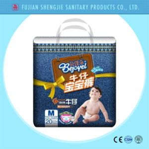 OEM Customized Pant Style Cotton Waistband Disposable Baby Diaper pictures & photos