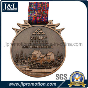 Customer Shape High Quality Metal Coin with Ribbon pictures & photos