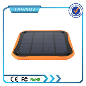 Mobile Charger 5V 4.2A Dual USB 5600mAh Solar Power Bank pictures & photos