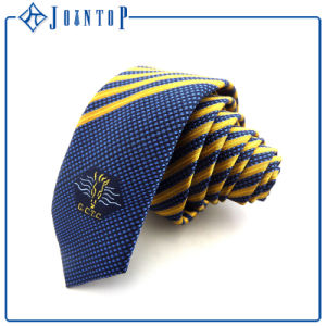 Fashion High Quality Sbright Colored Tripe Woven Silk Necktie pictures & photos
