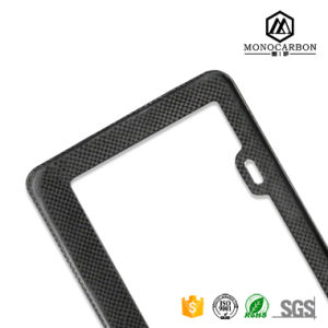 Car Auto Rectangular Carbon Fiber License Plate Covers in License Frame pictures & photos
