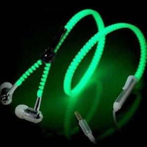 Zipper Glowing Earpod EL Wire Flash Luminous Earphone with Mic Ledh Earphone Headset for iPhone 6s Plus pictures & photos