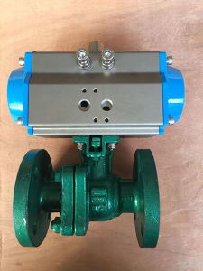 Carbon Steel Pn40 Flange Ball Valve with Double Acting Pneumatic Actuator pictures & photos