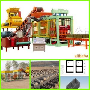 Qt6-15 Fully Automatic Concrete Hollow Brick Making Machine Production Line pictures & photos