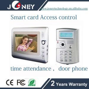 7 Inch Smart Card Access Control with Time Attendance and Door Phone pictures & photos