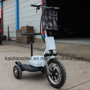 350W Hub Motor Electrical Bike 3-Wheel Electric Scooter Ginger pictures & photos