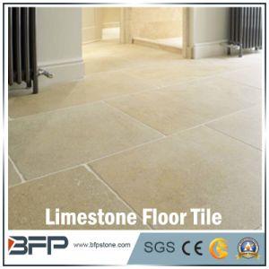 Building Material Beige Limestone Flooring Tile for Bathroom Decoration pictures & photos