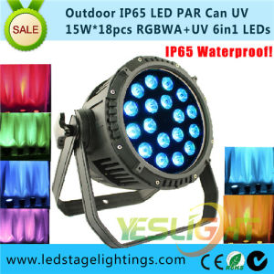 Hot Products of LED Stage Lighting 18PCS*18W UV+RGBWA 6in1 LED PAR Light pictures & photos