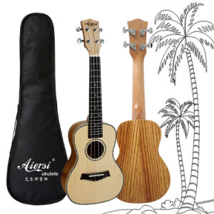 24 Inch Zebrawood Body Solid Spruce Top Hawaii Ukulele for Sale pictures & photos