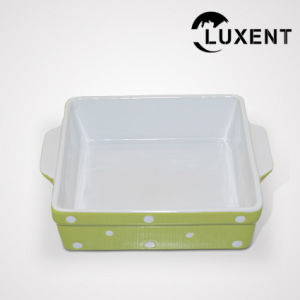 Latest New Porcelain Domestic Colored Samll Rcet Baking Tray