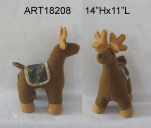 Woodland Christmas Decoration Standing Camo Reindeer pictures & photos